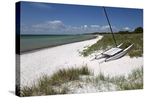 White Sand Beach and Sand Dunes, Skanor Falsterbo, Falsterbo Peninsula, Skane, South Sweden, Sweden-Stuart Black-Stretched Canvas Print