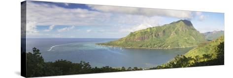 Opunohu Bay, Mo'Orea, Society Islands, French Polynesia, South Pacific, Pacific-Ian Trower-Stretched Canvas Print