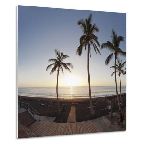 Beach of Puerto Naos at Sunset, La Palma, Canary Islands, Spain, Europe-Markus Lange-Metal Print