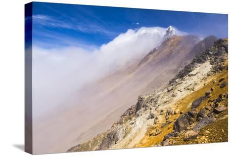 The 5126M Summit of Illiniza Norte Volcano, Pichincha Province, Ecuador, South America-Matthew Williams-Ellis-Stretched Canvas Print