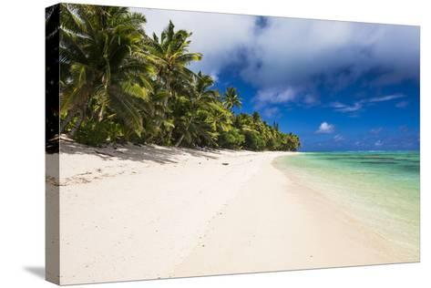 White Sandy Beach and Palm Trees on Tropical Rarotonga Island, Cook Islands, South Pacific, Pacific-Matthew Williams-Ellis-Stretched Canvas Print