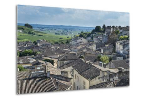 View over the UNESCO World Heritage Site, St. Emilion, Gironde, Aquitaine, France, Europe-Michael Runkel-Metal Print