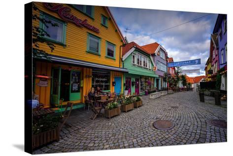 Colourful Street, Ovre Holmegate, Stavanger, Norway, Scandinavia, Europe-Jim Nix-Stretched Canvas Print
