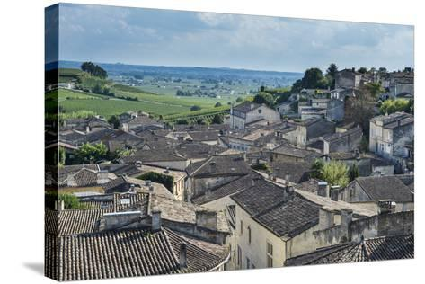 View over the UNESCO World Heritage Site, St. Emilion, Gironde, Aquitaine, France, Europe-Michael Runkel-Stretched Canvas Print