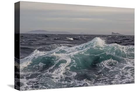 High Winds and Heavy Seas on Approach to the New Island Nature Reserve, Falkland Islands-Michael Nolan-Stretched Canvas Print