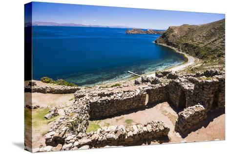 Palacio Del Inca at Chincana Ruins, Lake Titicaca, Bolivia-Matthew Williams-Ellis-Stretched Canvas Print