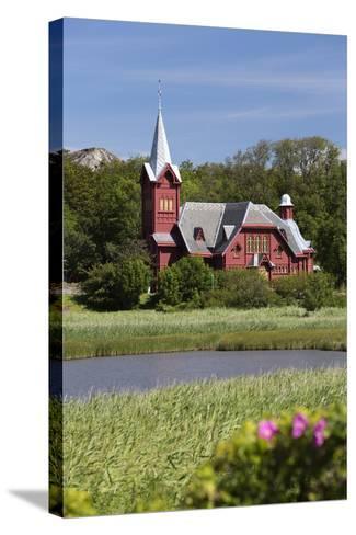 Halleviksstrands Kyrka Church, Halleviksstrand, Orust, Bohuslan Coast, Southwest Sweden, Sweden-Stuart Black-Stretched Canvas Print