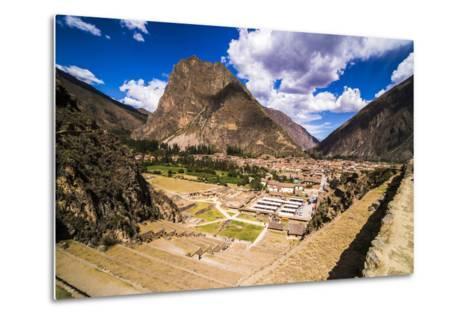 Inca Ruins of Ollantaytambo, Sacred Valley of the Incas (Urubamba Valley), Near Cusco, Peru-Matthew Williams-Ellis-Metal Print