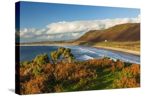 Rhossili Bay, Gower, Wales, United Kingdom, Europe-Billy Stock-Stretched Canvas Print