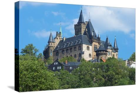 Wernigerode Castle, Harz, Saxony-Anhalt, Germany, Europe-G & M Therin-Weise-Stretched Canvas Print
