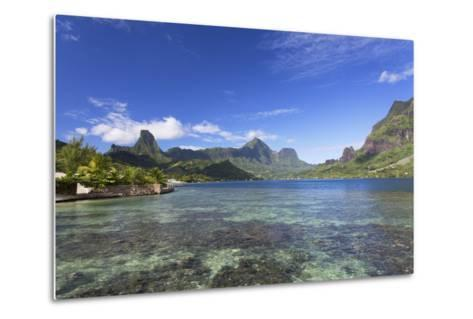 Cook's Bay, Moorea, Society Islands, French Polynesia, South Pacific, Pacific-Ian Trower-Metal Print