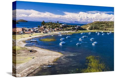 Harbour on Lake Titicaca at Challapampa Village on Isla Del Sol (Island of the Sun), Bolivia-Matthew Williams-Ellis-Stretched Canvas Print