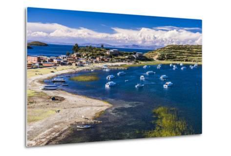 Harbour on Lake Titicaca at Challapampa Village on Isla Del Sol (Island of the Sun), Bolivia-Matthew Williams-Ellis-Metal Print