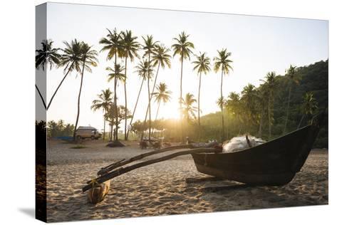 Dawn Light at Agonda Beach, Goa, India, South Asia-Ben Pipe-Stretched Canvas Print