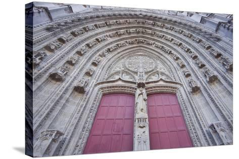 The Entrance to Cathedral of Saint Paul and Saint Peter, Loire-Atlantique, France-Julian Elliott-Stretched Canvas Print