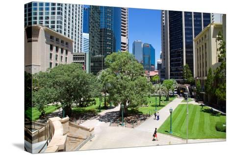 Anzac Square, Brisbane, Queensland, Australia, Oceania-Frank Fell-Stretched Canvas Print