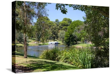 River Torrens and 'Popeye' Boat, Adelaide, South Australia, Oceania-Frank Fell-Stretched Canvas Print