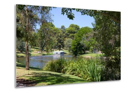 River Torrens and 'Popeye' Boat, Adelaide, South Australia, Oceania-Frank Fell-Metal Print