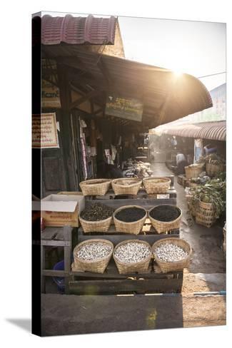 Kalaw Market at Sunrise, Shan State, Myanmar (Burma), Asia-Matthew Williams-Ellis-Stretched Canvas Print