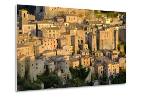 View of Sorano Seen from Etruscan Rock Settlement of San Rocco, Maremma, Grosseto, Tuscany, Italy-Carlo Morucchio-Metal Print