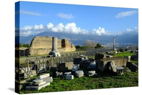 Venus Temple, Pompeii, the Ancient Roman Town Near Naples, Campania, Italy-Carlo Morucchio-Stretched Canvas Print