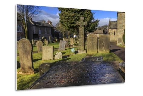 Saxon Cross and Plague Victim's Table Tomb (Catherine Mompesson), Derbyshire-Eleanor Scriven-Metal Print