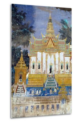 Detail from the Reamker Murals (Khmer Version of the Ramayana), Royal Palace, Phnom Penh, Cambodia-Alex Robinson-Metal Print