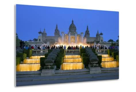 Fountains in Front of the National Museum of Art, Spain-Gavin Hellier-Metal Print