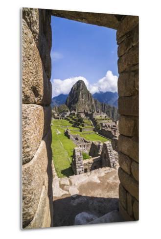 Machu Picchu Inca Ruins and Huayna Picchu (Wayna Picchu), Cusco Region, Peru, South America-Matthew Williams-Ellis-Metal Print