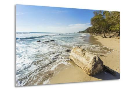 Driftwood on This Beautiful Surf Beach Near Mal Pais, Playa Santa Teresa, Costa Rica-Rob Francis-Metal Print