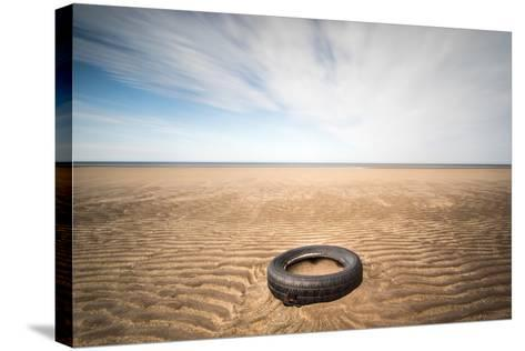 Spare Tyre, Lindesfarne, Northumberland, England, United Kingdom, Europe-Bill Ward-Stretched Canvas Print