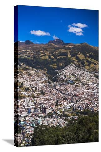 Quito, with Pichincha Volcano in the Background, Ecuador, South America-Matthew Williams-Ellis-Stretched Canvas Print