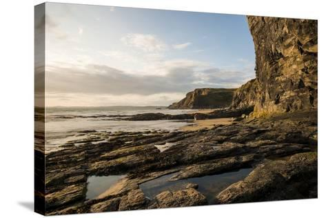Druidston Haven Beach at Dusk, Pembrokeshire Coast National Park, Wales, United Kingdom, Europe-Ben Pipe-Stretched Canvas Print