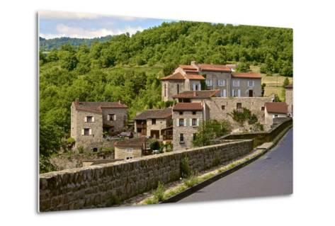 Perched Medieval Village, Allier River, Auvergne, Haute Loire, France, Europe-Guy Thouvenin-Metal Print