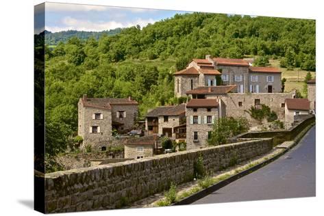 Perched Medieval Village, Allier River, Auvergne, Haute Loire, France, Europe-Guy Thouvenin-Stretched Canvas Print