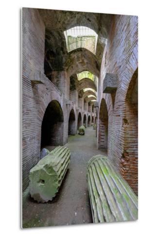 The Underground of the Flavian Amphitheater, Pozzuoli, Naples-Carlo Morucchio-Metal Print