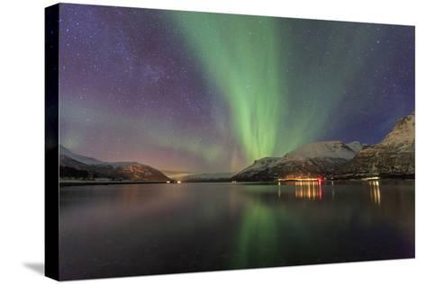The Northern Lights Illuminates the Icy Sea, Troms-Roberto Moiola-Stretched Canvas Print