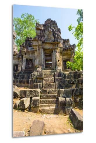 Wat Ek Phnom Temple Ruins, Battambang Province, Cambodia, Indochina, Southeast Asia, Asia-Jason Langley-Metal Print
