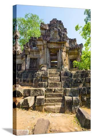 Wat Ek Phnom Temple Ruins, Battambang Province, Cambodia, Indochina, Southeast Asia, Asia-Jason Langley-Stretched Canvas Print