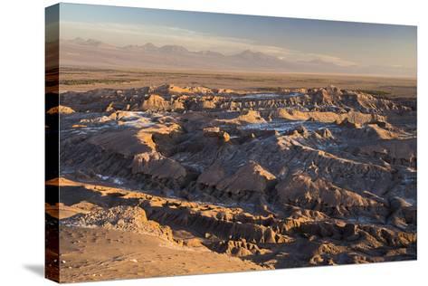Moon Valley Sunset (Valle De La Luna), Atacama Desert, North Chile, Chile, South America-Matthew Williams-Ellis-Stretched Canvas Print