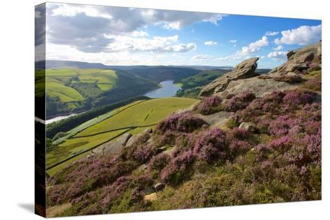 View from Derwent Edge, Peak District National Park, Derbyshire, England, United Kingdom, Europe-Frank Fell-Stretched Canvas Print