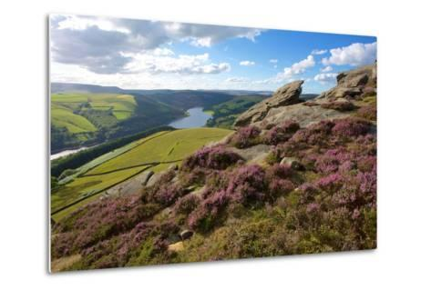 View from Derwent Edge, Peak District National Park, Derbyshire, England, United Kingdom, Europe-Frank Fell-Metal Print