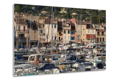 Boats Moored in the Harbour of the Historic Town of Cassis, Cote D'Azur, Provence, France, Europe-Martin Child-Metal Print