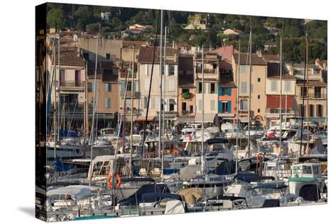 Boats Moored in the Harbour of the Historic Town of Cassis, Cote D'Azur, Provence, France, Europe-Martin Child-Stretched Canvas Print