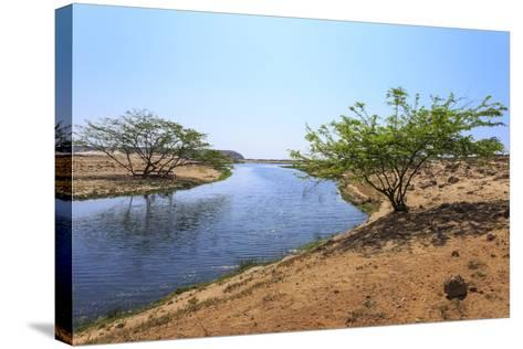 Tranquil Waters of Khor Rori (Rouri), Oman-Eleanor Scriven-Stretched Canvas Print