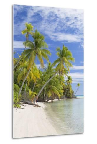 Couple on Beach at Les Sables Roses (Pink Sands), French Polynesia-Ian Trower-Metal Print