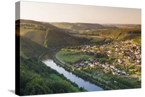 View over the Saar Valley with Saar River Near Serrig, Rhineland-Palatinate, Germany, Europe-Markus Lange-Stretched Canvas Print