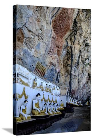 Kaw Gon (Kaw Goon) Cave, Dated 7th Century, Hpa An, Kayin State (Karen State), Myanmar (Burma)-Nathalie Cuvelier-Stretched Canvas Print
