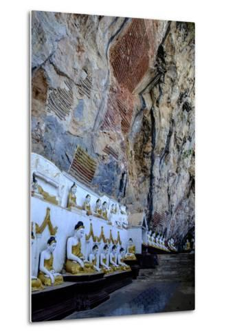 Kaw Gon (Kaw Goon) Cave, Dated 7th Century, Hpa An, Kayin State (Karen State), Myanmar (Burma)-Nathalie Cuvelier-Metal Print