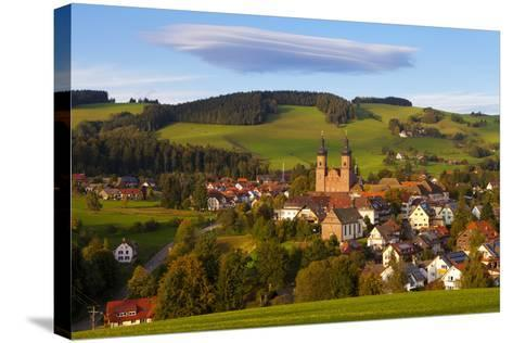 Overview of Saint Peter (Sankt Peter) at Sunset, Black Forest, Baden-Wurttemberg, Germany, Europe-Miles Ertman-Stretched Canvas Print